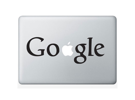 Google on Macbook Aufkleber Produktbild