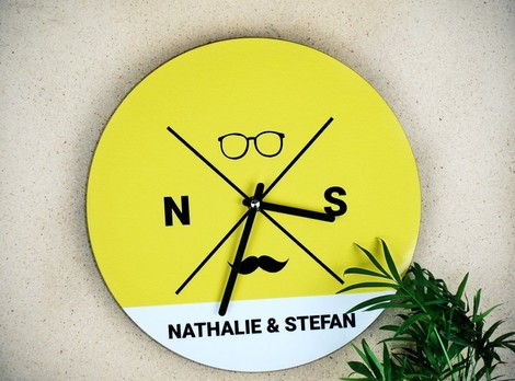 Personalisierbare Hipster Wanduhr (Foto 4)