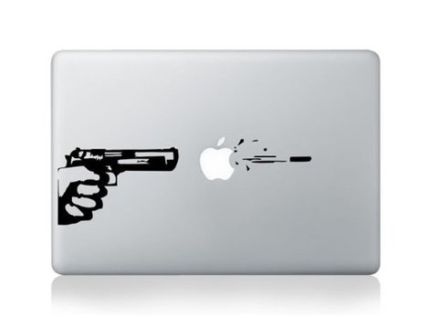Gun-Sticker für MacBook Produktbild