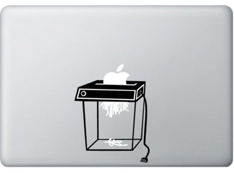 Shredder-Sticker für's MacBook Produktbild