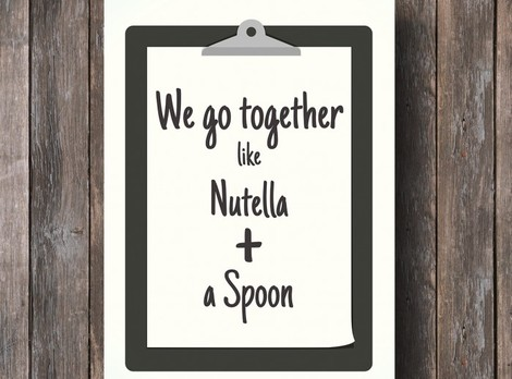 We go together like ... - Personalisierbares Poster Produktbild